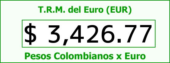 T.R.M. del Euro para hoy Sábado 30 de Julio de 2016