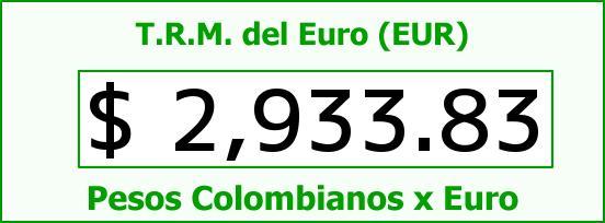 T.R.M. del Euro para hoy Sábado 4 de Julio de 2015