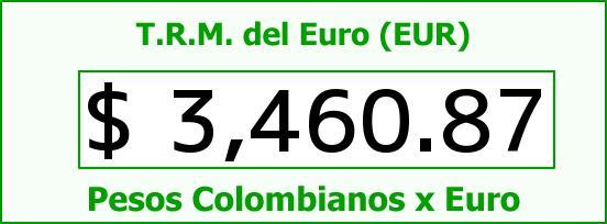 T.R.M. del Euro para hoy Sábado 5 de Septiembre de 2015