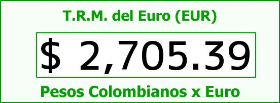 T.R.M. del Euro para hoy Sábado 7 de Febrero de 2015