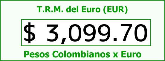 T.R.M. del Euro para hoy Sábado 7 de Noviembre de 2015
