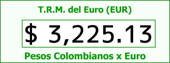 T.R.M. del Euro para hoy Sábado 8 de Agosto de 2015