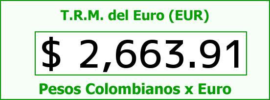 T.R.M. del Euro para hoy Sábado 9 de Mayo de 2015