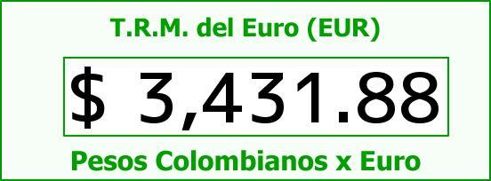 T.R.M. del Euro para hoy Viernes 1 de Abril de 2016