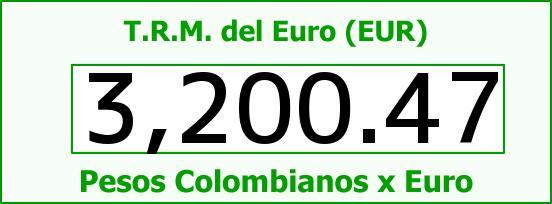 T.R.M. del Euro para hoy Viernes 1 de Julio de 2016