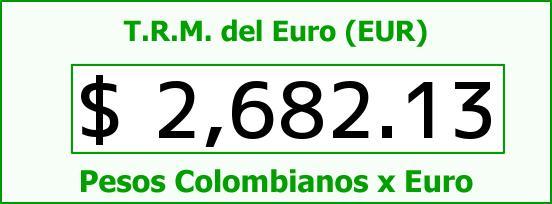 T.R.M. del Euro para hoy Viernes 1 de Mayo de 2015