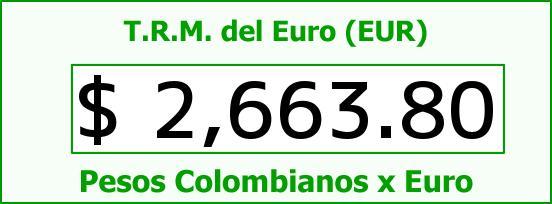 T.R.M. del Euro para hoy Viernes 10 de Abril de 2015