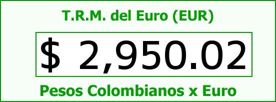 T.R.M. del Euro para hoy Viernes 10 de Julio de 2015