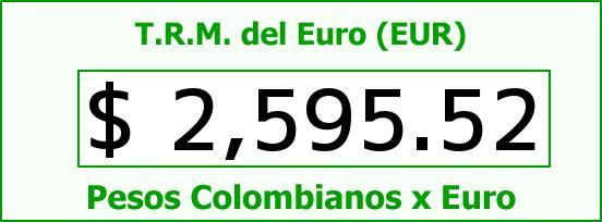 T.R.M. del Euro para hoy Viernes 10 de Octubre de 2014