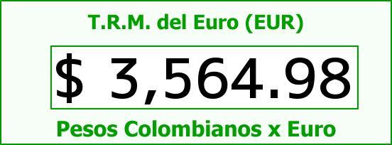 T.R.M. del Euro para hoy Viernes 11 de Diciembre de 2015