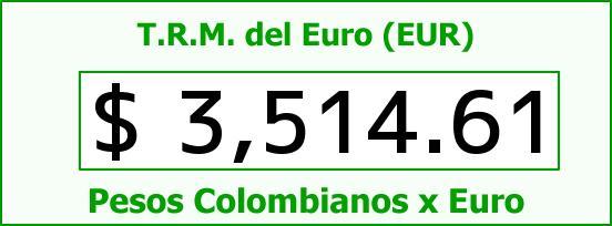 T.R.M. del Euro para hoy Viernes 11 de Marzo de 2016