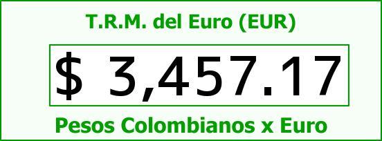 T.R.M. del Euro para hoy Viernes 11 de Septiembre de 2015