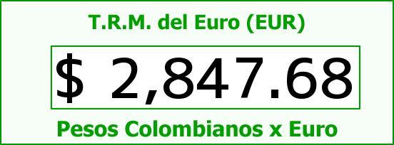 T.R.M. del Euro para hoy Viernes 12 de Junio de 2015