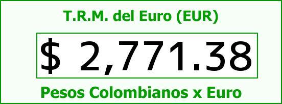 T.R.M. del Euro para hoy Viernes 13 de Marzo de 2015