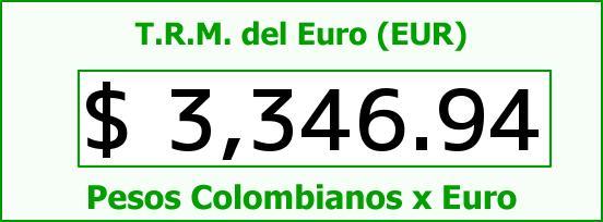 T.R.M. del Euro para hoy Viernes 13 de Mayo de 2016