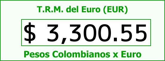 T.R.M. del Euro para hoy Viernes 14 de Agosto de 2015