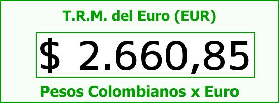 T.R.M. del Euro para hoy Viernes 14 de Noviembre de 2014