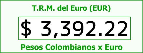 T.R.M. del Euro para hoy Viernes 15 de Abril de 2016