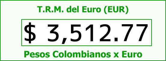 T.R.M. del Euro para hoy Viernes 15 de Enero de 2016