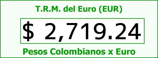 T.R.M. del Euro para hoy Viernes 15 de Mayo de 2015