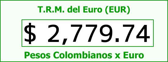 T.R.M. del Euro para hoy Viernes 16 de Enero de 2015