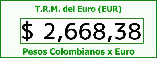 T.R.M. del Euro para hoy Viernes 17 de Abril de 2015