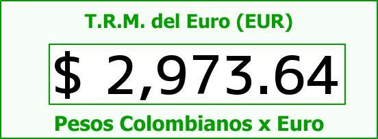 T.R.M. del Euro para hoy Viernes 17 de Julio de 2015