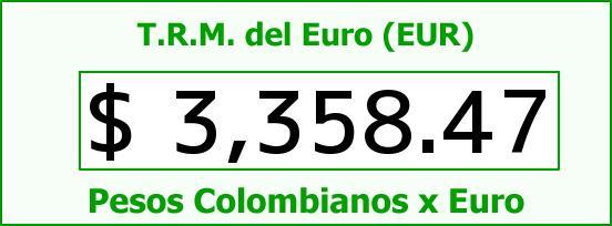 T.R.M. del Euro para hoy Viernes 17 de Junio de 2016