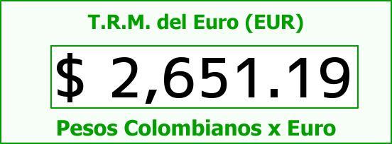 T.R.M. del Euro para hoy Viernes 17 de Octubre de 2014