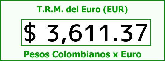 T.R.M. del Euro para hoy Viernes 18 de Diciembre de 2015