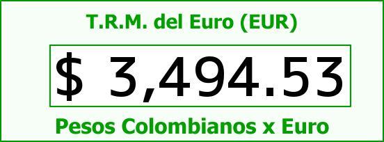 T.R.M. del Euro para hoy Viernes 18 de Marzo de 2016