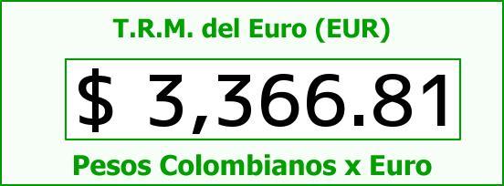 T.R.M. del Euro para hoy Viernes 18 de Septiembre de 2015