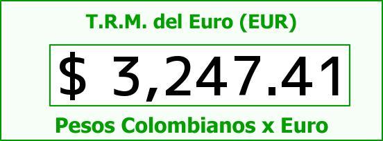 T.R.M. del Euro para hoy Viernes 19 de Agosto de 2016