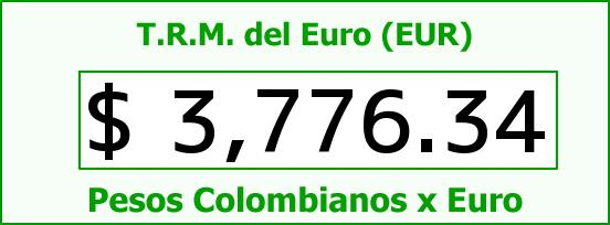 T.R.M. del Euro para hoy Viernes 19 de Febrero de 2016