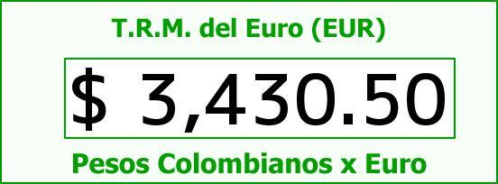 T.R.M. del Euro para hoy Viernes 2 de Octubre de 2015