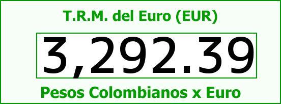 T.R.M. del Euro para hoy Viernes 2 de Septiembre de 2016