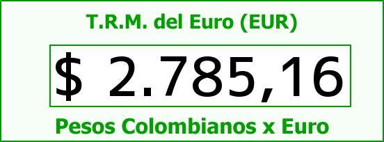 T.R.M. del Euro para hoy Viernes 20 de Febrero de 2015