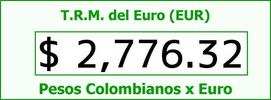 T.R.M. del Euro para hoy Viernes 20 de Marzo de 2015