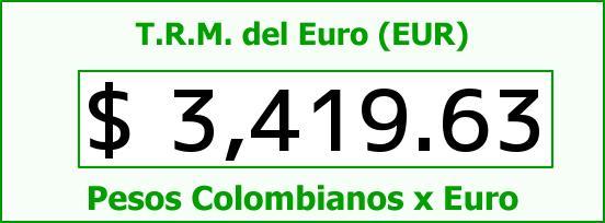 T.R.M. del Euro para hoy Viernes 21 de Agosto de 2015