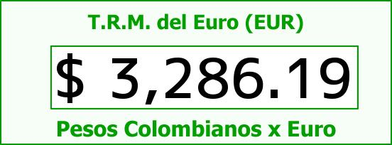 T.R.M. del Euro para hoy Viernes 22 de Abril de 2016