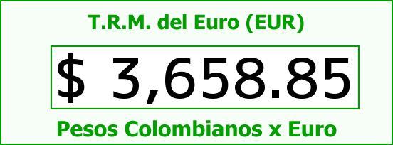 T.R.M. del Euro para hoy Viernes 22 de Enero de 2016