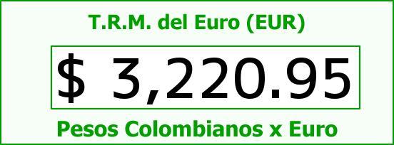 T.R.M. del Euro para hoy Viernes 22 de Julio de 2016