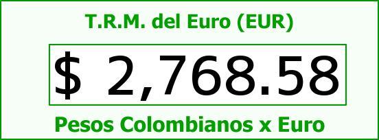 T.R.M. del Euro para hoy Viernes 22 de Mayo de 2015