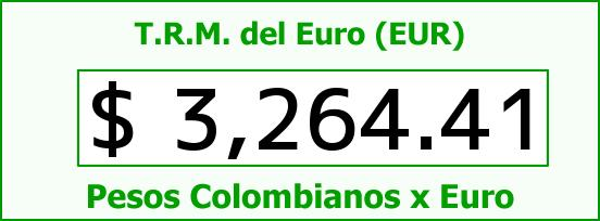 T.R.M. del Euro para hoy Viernes 23 de Octubre de 2015