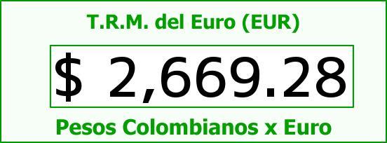 T.R.M. del Euro para hoy Viernes 24 de Abril de 2015