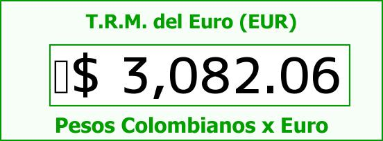 T.R.M. del Euro para hoy Viernes 24 de Julio de 2015