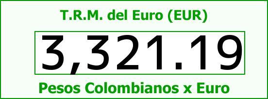 T.R.M. del Euro para hoy Viernes 24 de Junio de 2016