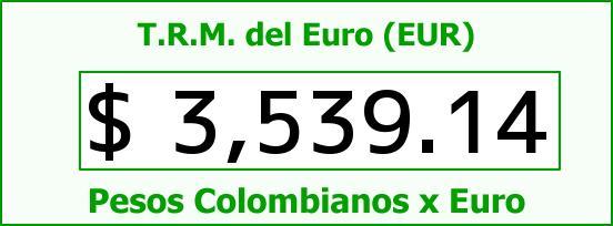 T.R.M. del Euro para hoy Viernes 25 de Septiembre de 2015