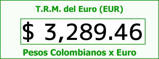 T.R.M. del Euro para hoy Viernes 26 de Agosto de 2016