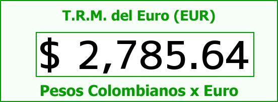T.R.M. del Euro para hoy Viernes 27 de Marzo de 2015